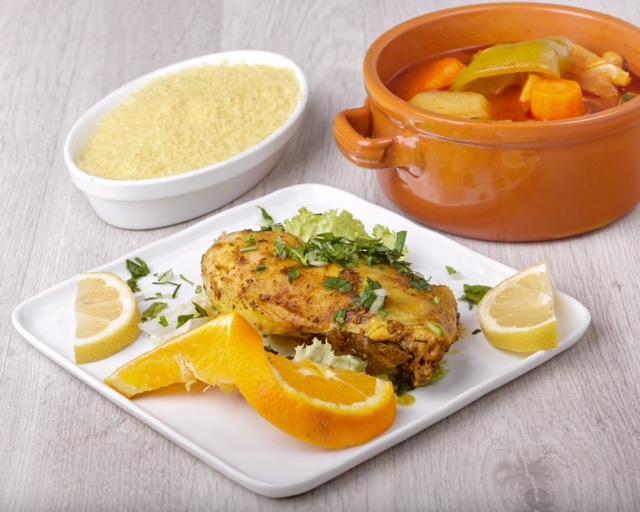 Couscous poulet avec légumes et semoule